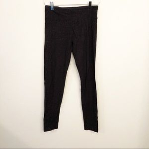 Justice Black Sparkle Leggings Sz 16 Never worn